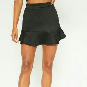 PrettyLittleThing Skirts - Pretty Little Thing Black Mini Skirt Size 10